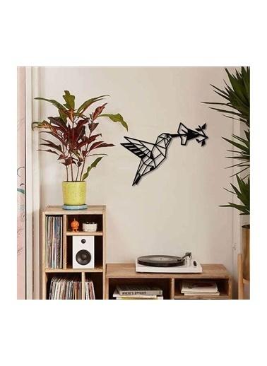Baupor Hummingbird Metal Duvar Dekoru Siyah